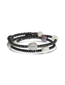 By Fairfax & Roberts - Real Pearl & Haematite Bracelet