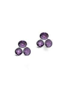 By Fairfax & Roberts - Real Gemstone Trio Earrings