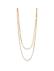 By Fairfax & Roberts - Real Pearl & Suede Multi Necklace & Bracelet