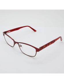 Black Ice Unisex Red Rectangular Reading Glasses