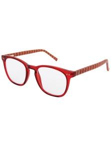 Black Ice Kids Round Reading Glasses Red