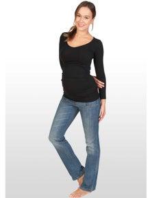 Eve Of Eden Long Sleeve Black Maternity Top