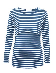 Eve Of Eden Navy And White Nursing Top