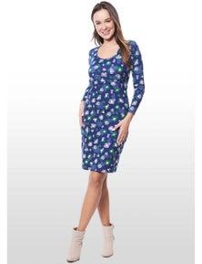 Eve Of Eden Floral Print Maternity/Nursing Dress