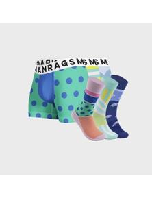 MANRAGS Matching Socks & Jocks 6-Pack
