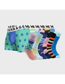 MANRAGS Matching Socks & Jocks 12-Pack