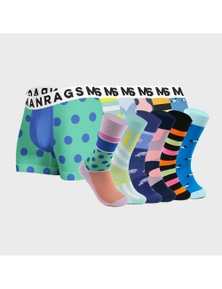 MANRAGS Matching Socks & Jocks 12-Pack