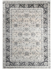 Oregon Prague Grey Ash Border Rug 120X170cm