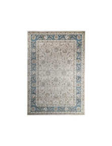 Oregon Prague Cream Blue Border Rug 120X170cm