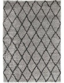 Lumina Diamond Grey Charcoal Shag Rug 240X330