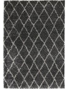 Lumina Diamond Charcoal Grey Shag Rug 240X330
