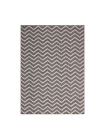 Hawaii Grey Ikat Geometric Rug 80X150