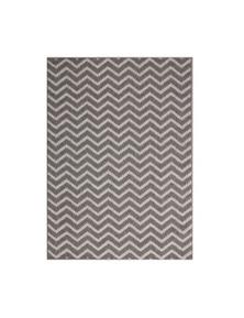 Hawaii Grey Ikat Geometric Rug 80X150
