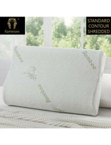 Ramesses Cooling Bamboo Memory Foam Contour Pillow Single Pack