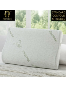 Ramesses Cooling Bamboo Memory Foam Shredded Pillow Twin Pack