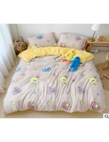 AJ 3D Pink Sesame Street 30123 Bed With Pillowcases Quilt Cover Set