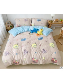 AJ 3D Sesame Street 30121 Bed With Pillowcases Quilt Cover Set