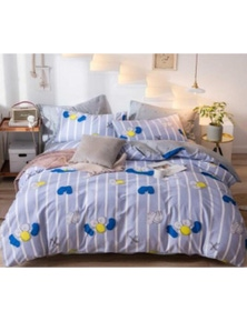 AJ 3D Sesame Street Pattern 16075 Bed With Pillowcases Quilt Cover Set