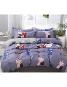 AJ 3D Sesame Street Rabbit 12152 Bed With Pillowcases Quilt Cover Set