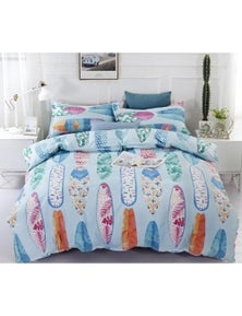 AJ 3D Watercolor Surfboard 6028 Bed With Pillowcases Quilt Cover Set