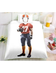 AJ 3D Rugby Jersey 1129 Bed With Pillowcases Quilt Cover Set