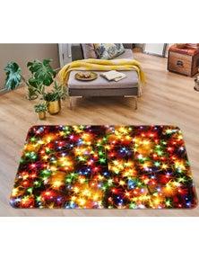 AJ 3D Color Starlight 55059 Christmas Non Slip Rug Mat Room Mat Quality Elegant Photo Carpet Xmas