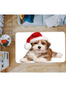 AJ 3D Christmas Hat Puppy 37084 Non Slip Rug Mat Room Mat Quality Elegant Photo Carpet