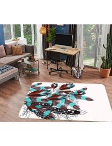 AJ 3D Feather 37083 Non Slip Rug Mat Room Mat Quality Elegant Photo Carpet