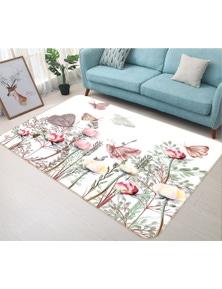 AJ 3D Flower Butterfly 37080 Non Slip Rug Mat Room Mat Quality Elegant Photo Carpet
