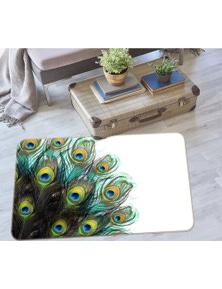 AJ 3D Peacock Feather 37078 Non Slip Rug Mat Room Mat Quality Elegant Photo Carpet