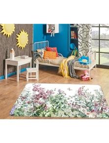AJ 3D Flower Bush 37077 Non Slip Rug Mat Room Mat Quality Elegant Photo Carpet