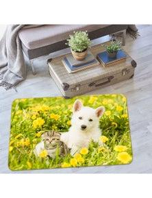 AJ 3D Grass Cat Dog 37074 Non Slip Rug Mat Room Mat Quality Elegant Photo Carpet