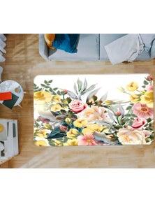 AJ 3D Flower Bush 37072 Non Slip Rug Mat Room Mat Quality Elegant Photo Carpet