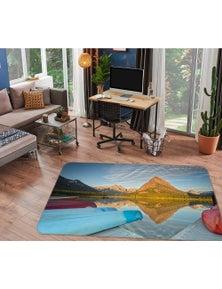 AJ 3D Swiftcurrent Lake Kayaks 84080 Kathy Barefield Rug Non Slip Rug Mat Room Mat Quality Elegant Photo Carpet