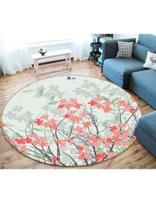 AJ 3D Flower bush 66160 Round Non Slip Rug Mat Room Mat Quality Elegant Photo Carpet