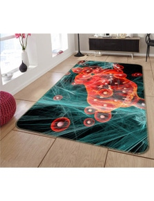 AJ 3D Red Round Pattern 65008 Non Slip Rug Mat Room Mat Quality Elegant Photo Carpet