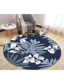 AJ 3D Leaves Flowers 64158 Round Non Slip Rug Mat Room Mat Quality Elegant Photo Carpet