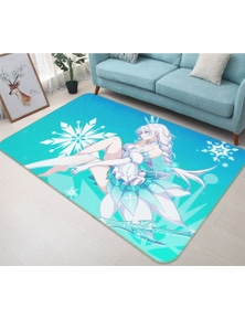 AJ 3D Beautiful Girl 8614  Anime Non Slip Rug Mat Room Mat Quality Elegant Photo Carpet