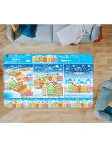 AJ 3D Colorful Houses 55065 Christmas Non Slip Rug Mat Room Mat Quality Elegant Photo Carpet Xmas