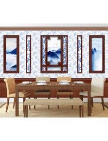 AJ Wallpaper 3D Mountain Photo Frame Wc533 Wall Murals Self-Adhesive Vinyl Wallpaper