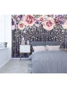 AJ Wallpaper 3D Rose Curtain 118 Wall Murals Self-Adhesive Vinyl Wallpaper