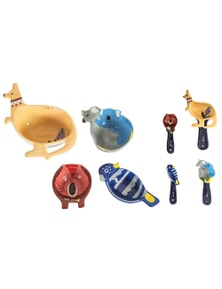 Australiana Fauna Measuring Spoon/Cups Set 8Pc