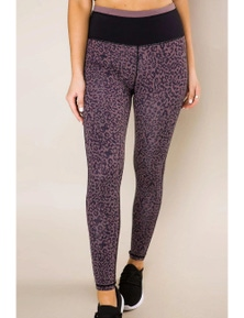 Purple Leopard Print Active Leggings