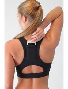 Black Back Pocket Sport Bra