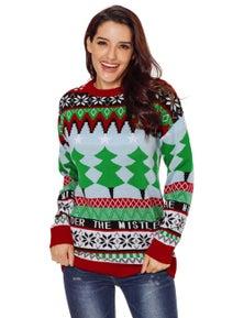 Chrismas Fashion Sweater with Christmas Trees