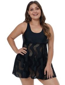 Black Plus Size Swim Dress