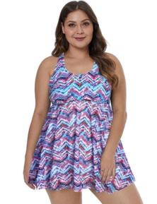 Purple Plus Size Swim Dress