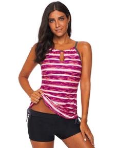 Red Print Tankini Swimwear
