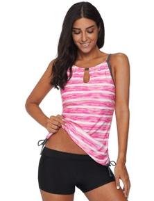 Rosy Print Tankini Swimwear