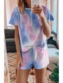 Tie Dye Print Pajamas Set